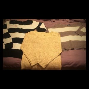 Bundle of sweaters, American eagle,planet gold,etc