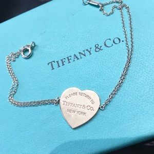 Tiffany & Co. Jewelry - 💎 Tiffany & Co. Sterling Silver w Rose Gold Heart