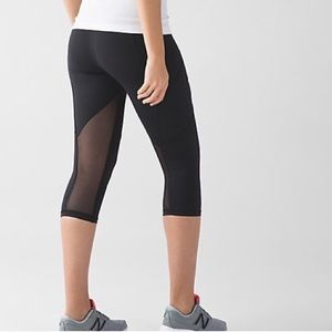 lululemon athletica Pants - Lululemon High Waist Crop Size 4