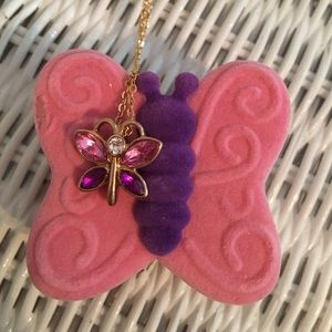 Butterfly necklace in butterfly box! 