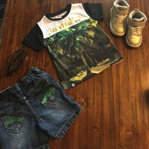 akademiks Other - Jamaica Tee Shirt and Denim Shorts