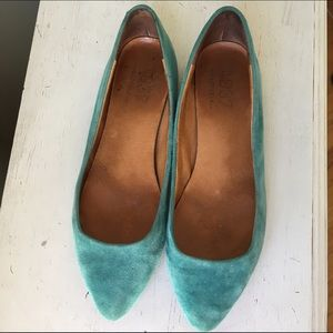 Madewell suede flat skimmers