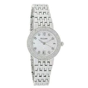 NWT Bulova DIAMOND stainless watch