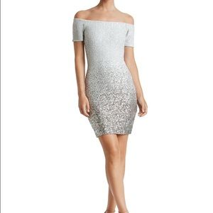 Dress the Population Dresses & Skirts - Ombré Sequined Off-Shoulder Mini C