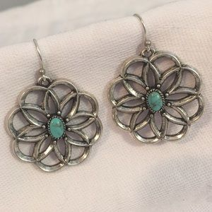 Lucky Brand Jewelry - Lucky Brand Sliver &  Turquoise Earrings