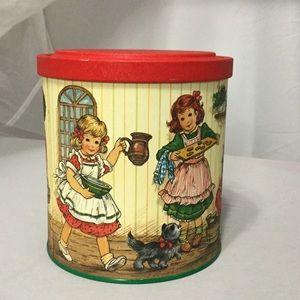 Vintage Holiday Baking Party Decorative Tin