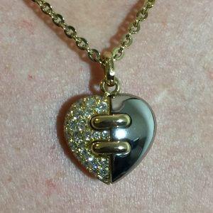 Bulgari Jewelry - 18K Gold Diamond Bvlgari Heart Pendant Necklace