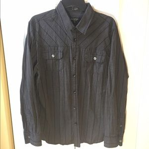 eighty eight Other - Men's Charcoal grey long sleeve button down shirt