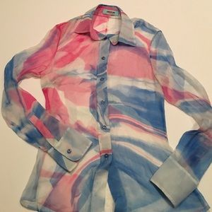 Guess by Marciano Tops - Guess by Marciano sheer silk blouse