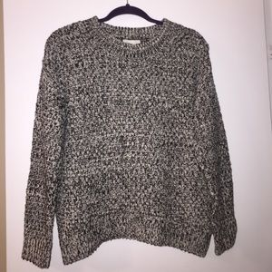 Sweaters - H&M grey and black knit sweater