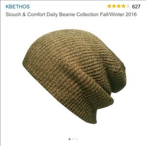 KBETHos Accessories - Olive slouchy beanie NWT