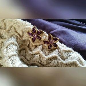 Jewelry - Purple Lily Earrings