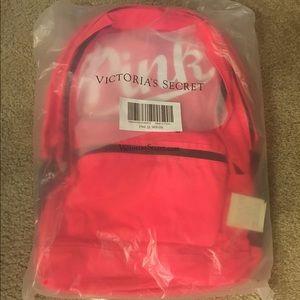 PINK Victoria's Secret Handbags - VS Victorias Secret Pink Campus Backpack Neon Red
