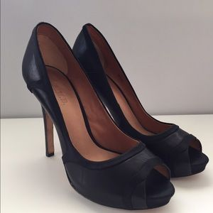 L.A.M.B. Shoes - L.A.M.B. Black peep toe pumps