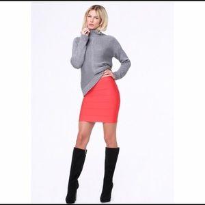 bebe Dresses & Skirts - Bebe coral bandage bodycon skirt!