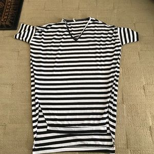 Sheinside B&W Striped Tshirt Dress
