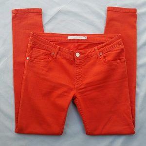 Victoria Beckham Denim - Victoria Beckham Orange Skinny Jeans