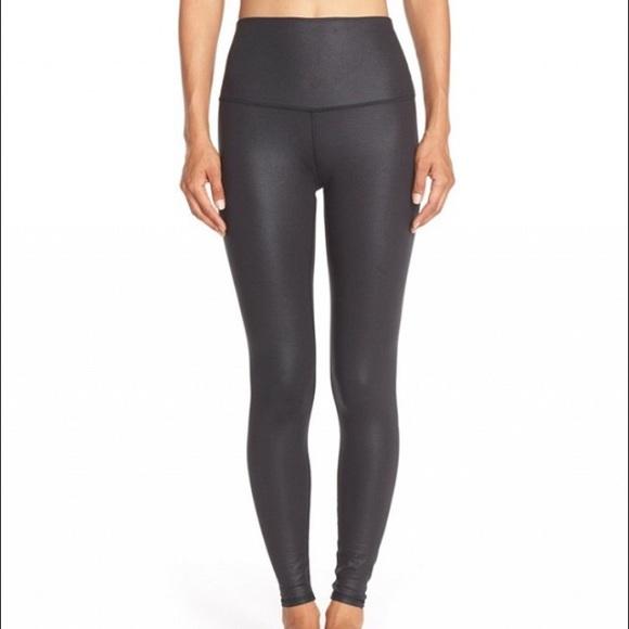 e1bc2573f18 ALO Yoga Pants - Alo Yoga high waisted glossy black leggings