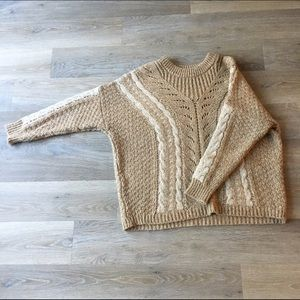 Oversized Tan Sweater