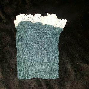 NWOT Knit & Lace Boots Socks