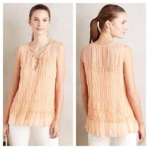 Anthropologie Floreat Calla Lace Up Tank Size 10
