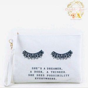 "October Love Handbags - 🎉SALE!✨Inspirational ""She"" Clutch/Cosmetic Bag!🎀"