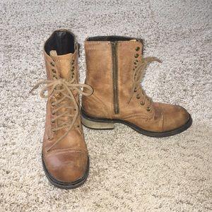 Steve Madden zip up/ lace up combat boots