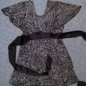 "29"" length tan with brown zebra print, brown"