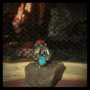 Jewelry - Coral and Turquoise Ring last 35