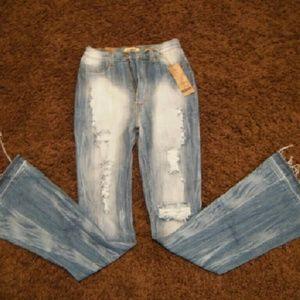 Aphrodite Denim - Aphrodite High-Waisted Distressed Jeans