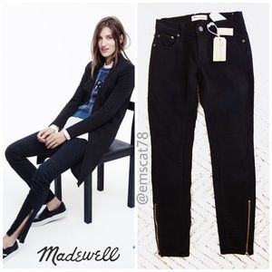 NWT Madewell Skinny Skinny Ankle Zip Moto Jeans 24