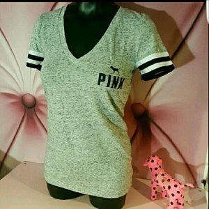 VS Pink Tee Shirt Gray S Small c23