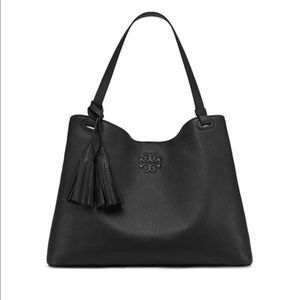 Tory Burch Thea Center Zip Tote Black