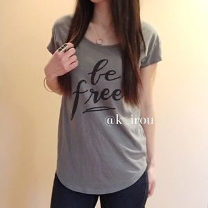 "Alternative Apparel Tops - ""be free"" short sleeve shirt"