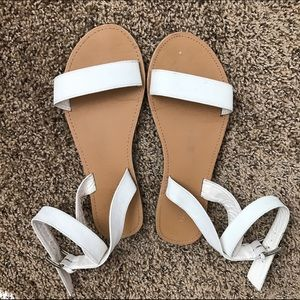Forever 21 Shoes - White Strap Sandals