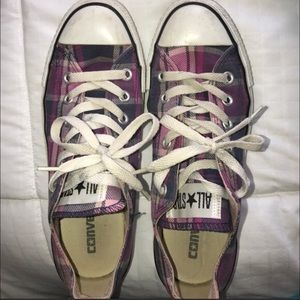 Pink and Purple Plaid Converse
