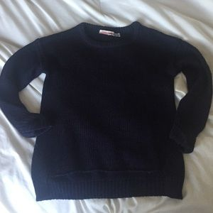 Vintage Havana Other - Vintage Girls Navy Sweater w/ Beaded Elbow Patches