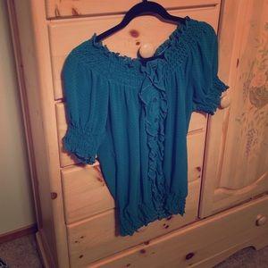 Romy Tops - Polka-dot blouse