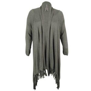 Melissa McCarthy Sweaters - Melissa McCarty Seven7 Women's Fringe Duster. B081