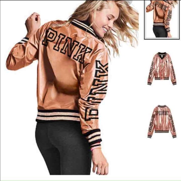 c13a47475 Victoria's Secret fashion show bomber jacket rose
