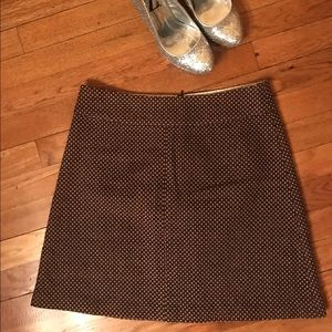 Frenchi Dresses & Skirts - Frenchi Nordstrom Brand Brown Polka Dot Miniskirt
