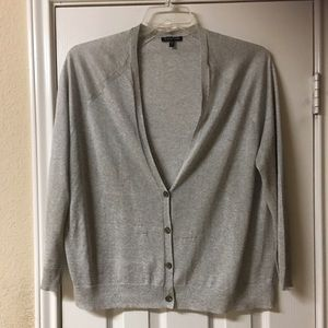 Eileen Fisher Light Grey Button Cardigan
