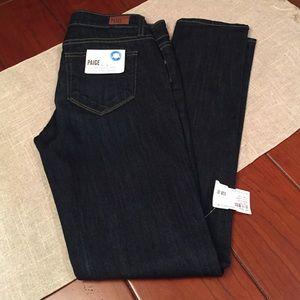 NWT Paige Skyline Ankle Peg Denim Jeans size 26