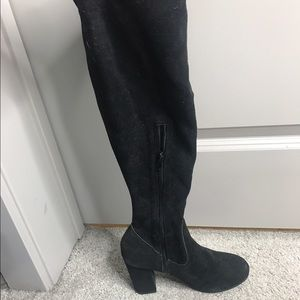 Shoes - Thigh high suede boots
