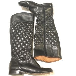 Corso como leather quilted boots