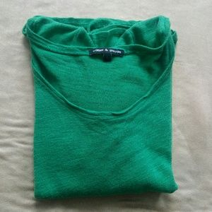 Cable & Gauge Sweaters - Cable & Gauge Lightweight Kelly Green Sweater