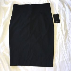 New Zara Basic Black Pencil Skirt 6