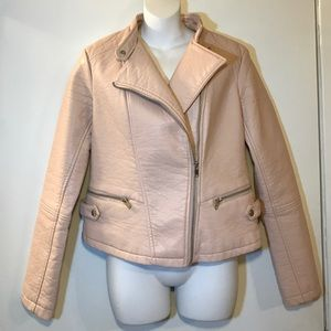 Metaphor Jackets & Blazers - Brand new pink moto jacket!