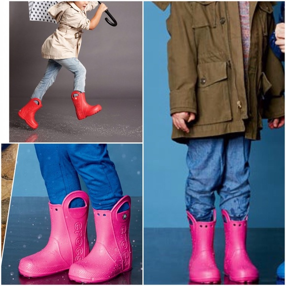 9da8c52d7cbe CROCS Other - Cute Girls Crocs Pink Top Handle Rain Boots