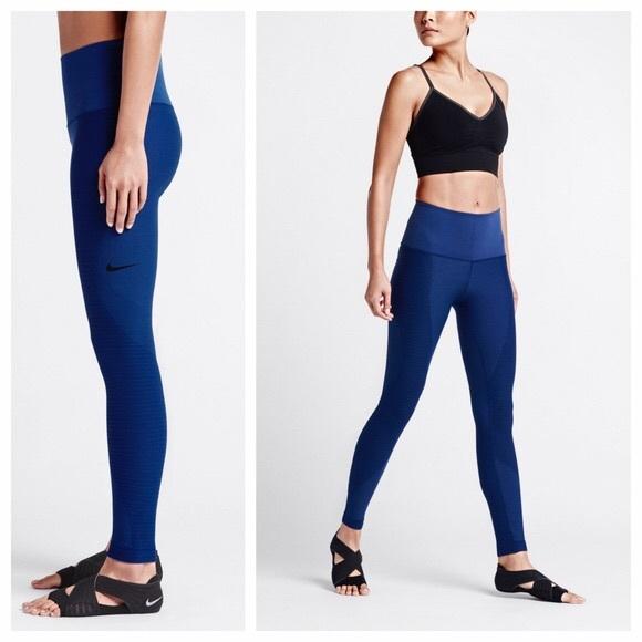 recognized brands autumn shoes wide range NIKE ZONE SCULPT BLUE LEGGINGS
